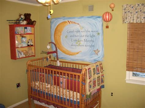 Crib Themes by Nursery Moon Theme Baby S Room Wall Lettering