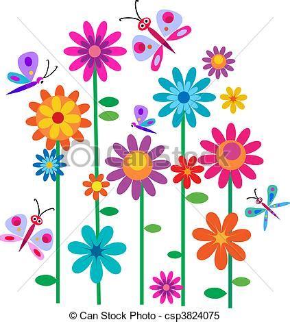 si鑒e printemps clipart vektor vlinders blumen fr 252 hling fr 252 hling