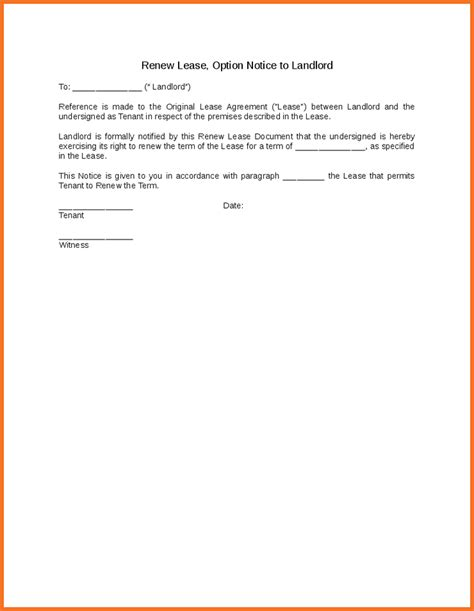 Letter Of Lease Renewal Exles Not Renewing Lease Letter Artresume Sle