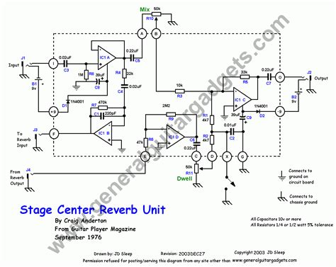 Stage Center Reverb Schematic | stage center reverb leanes fx