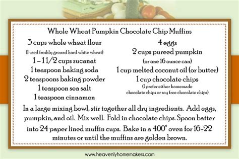 free printable muffin recipes free printables from heavenly homemakers fall recipe