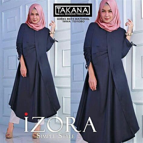 Cece Tunik Balotelly Fit L jual baju atasan muslim terbaru 2018 izora tunik murah