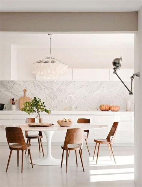 table cuisine blanche la salle 224 manger scandinave en 67 photos archzine fr