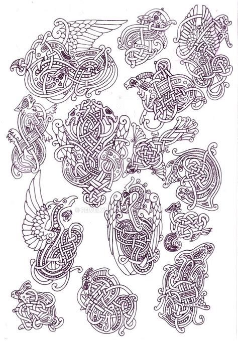 doodle knots zoomorphic knotwork doodle page by feivelyn on deviantart