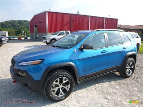 jeep trailhawk blue 2017 jeep trailhawk 4x4 in hydro blue pearl