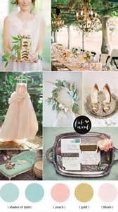 vintage wedding colors mint blush gold vintage wedding