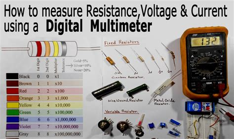 how to measure a resistor how to use a multimeter for beginners how to measure voltage resistance and current