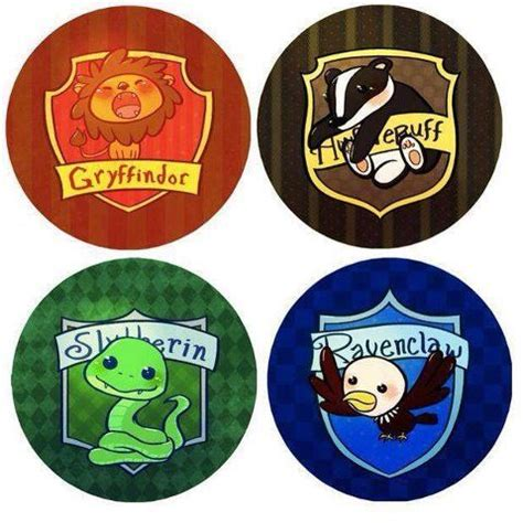 What Are The Houses In Harry Potter by Chibi Harry Potter Houses Harry Potter Haus Hogwarts Und Schlangen