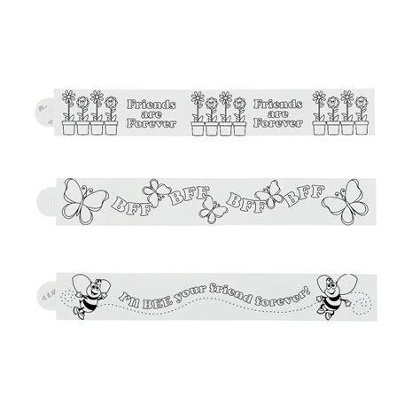 printable paper bracelets color your own paper friendship bracelets coloring crafts