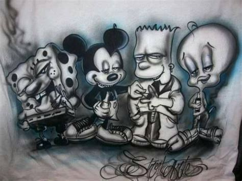 cartoon gangsta tattoo chicano art artwork pinterest chicano cartoon and