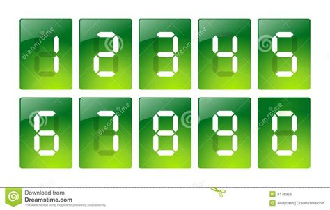 Black Digital Button Number Zero Royalty Free Stock Green Digital Number Icons Royalty Free Stock Image Image 4176956