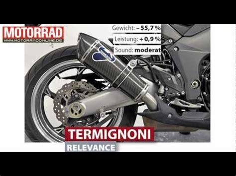 Motorrad Auspuff Test Z1000 by Termignoni Relevance Kawasaki Z1000 Auspuff Youtube