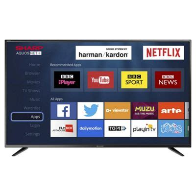 Tv Led Sharp 32 Inch Agustus buy sharp 32 inch lc 32chg6021k smart hd ready led tv with freeview hd from our 32 inch tvs