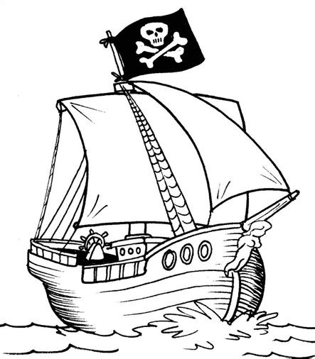 Pirate Ship Coloring Page by Pirate Ship Costumes Coloring Pictures