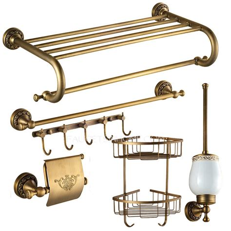 american style antique brass 6 carved bathroom