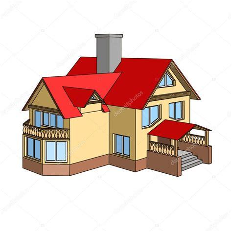 imagenes de casas navideñas animadas casa de dibujos animados con un techo a dos aguas vector
