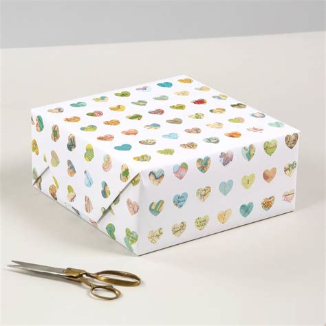 luxury gift wrapping paper map hearts luxury gift wrapping paper by bombus