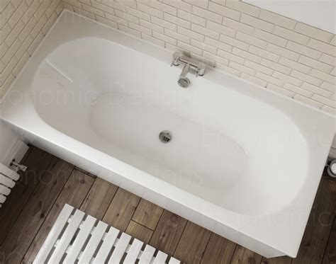double ended bathtub 1800 x 800 straight standard bath bathroom acrylic round
