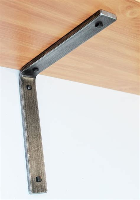 Shelf Brackets by Retro Industrial Style Steel Shelf Bracket Brackets