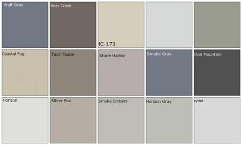 Different Colors Of Grey | best images of charcoal grey paint color chart valspar