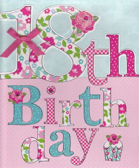 Handmade 18 Birthday Cards - finished floral 18th birthday card large luxury