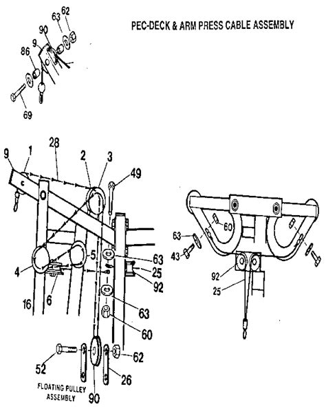 weider home cable diagram weider free engine image