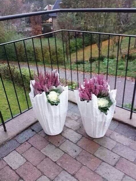 How To Make Cement Planters by Diy Concrete Planter From An Towel Or A Fleece Blanket