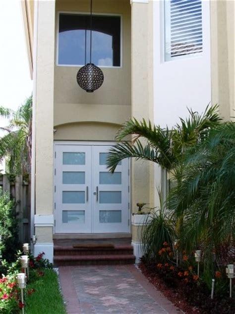 Modern Front Doors Miami Contemporary Mahogany 4 Lite Glass Doors Contemporary Front Doors Miami By