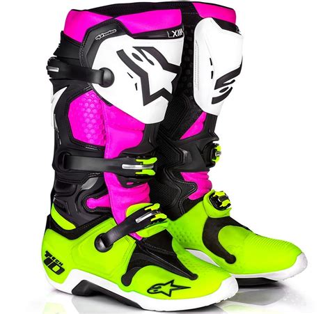 womens motocross boots 2017 alpinestars tech 10 le radiant boot black pink flo