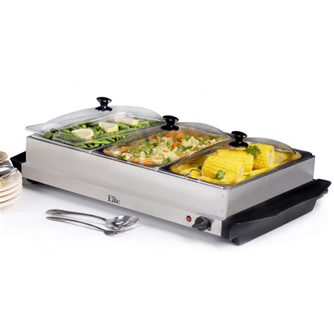 elite stainless steel buffet server and warming tray