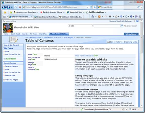 sharepoint wiki template optimus 5 search image sharepoint wiki exles