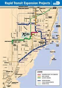 Miami Transit Map by Miami Dade County Rail Expansion Proposals Miami Metro