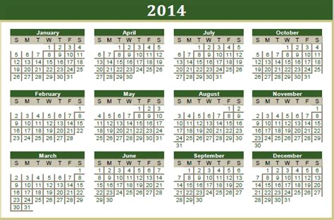 Islamic Calendar 2014 Fall 2014 Term Calendar