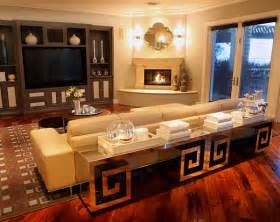 Geometric Shape Rug Sleek Corner Fireplaces With Modern Flair