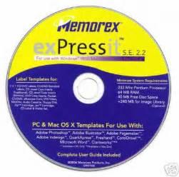 memorex expressit label software
