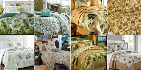 best palm tree bedding and comforter sets beachfront decor