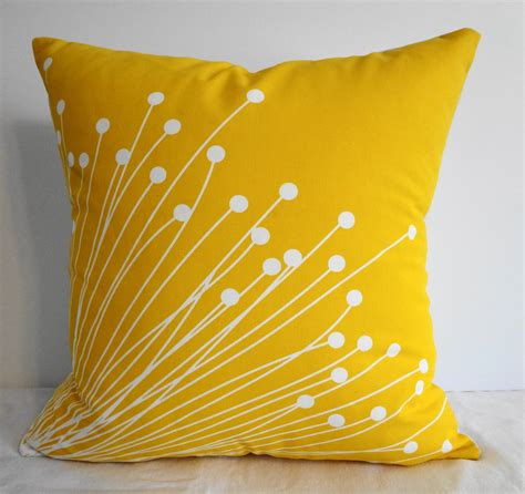 Yellow Pillows For Sofa Starburst Yellow Pillow Covers Decorative Throw By Pillows4fun