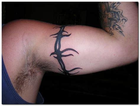 tribal tattoos around bicep black ink tribal armband on left bicep