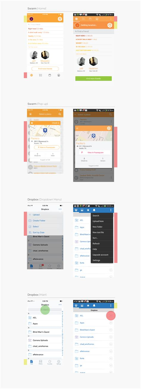 app layout behavior mobile app design ios vs android jackrabbit