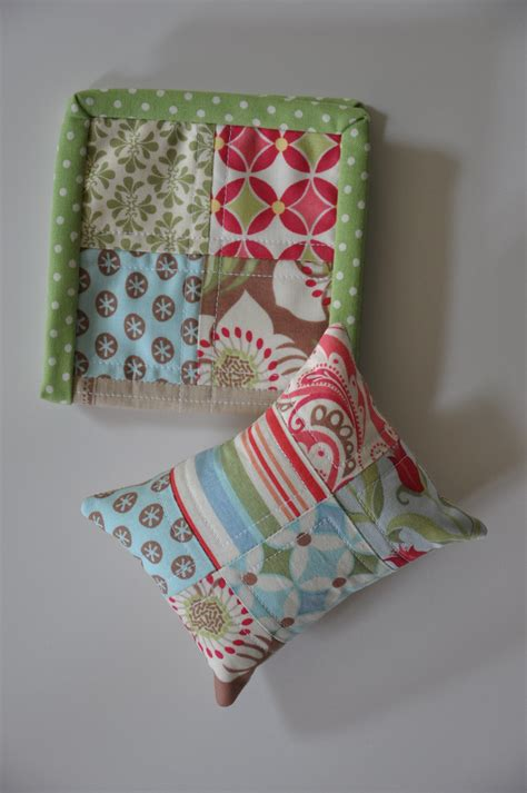 Patchwork Pincushion - clover violet patchwork pillow pincushion and notion