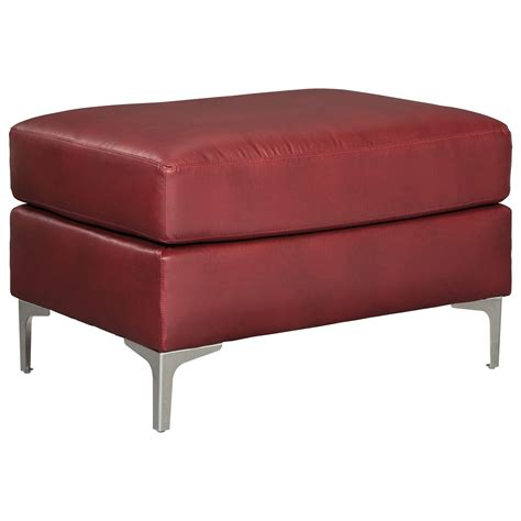 ottoman with metal legs signature design by tensas contemporary ottoman