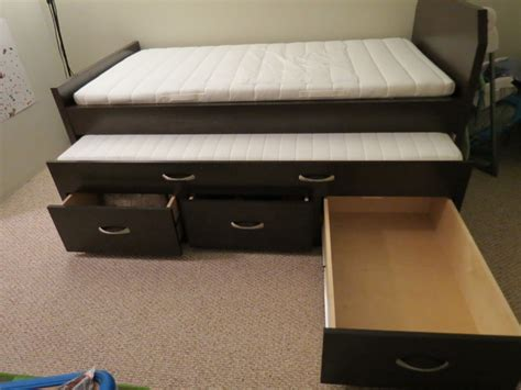 twin pull out bed converting pull out twin bed with storage