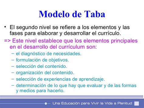 Modelos De Planificacion Curricular De Hilda Taba Modelos De Planificacion Curricular