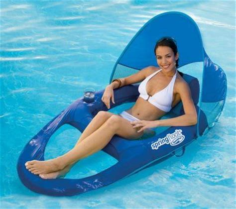 swimways spring float recliner with canopy pinterest the world s catalog of ideas