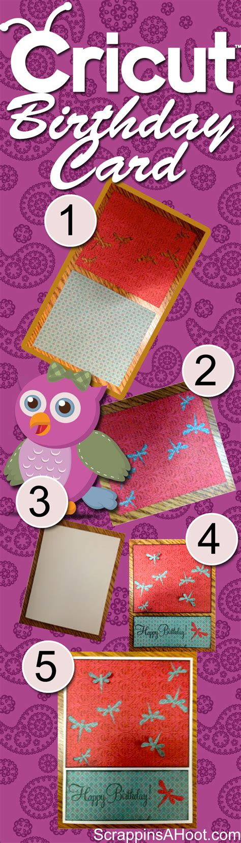 how to make cards with cricut how to make a scrapbook birthday card using the