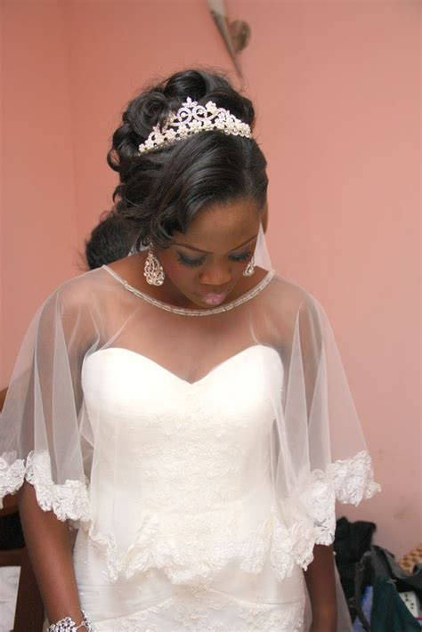 naija bridal hair styles wedding cape bolero trebella events