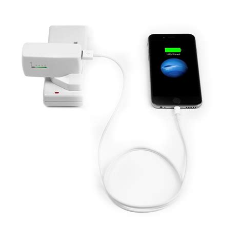 2 in 1 USB Wall Charger & Power Bank   White