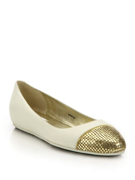 shoes flats jimmy choo waine chainmail leather ballet flats in