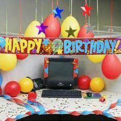 Office Desk Birthday Decoration Ideas 1000 Images About Decorated Cubicles On Cubicles Cubicle Decorations And