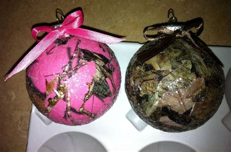pink camo real tree camo christmas bulbs pink pink pink